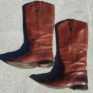 Frye Women's Mahogany Brown Riding Boot 8.5